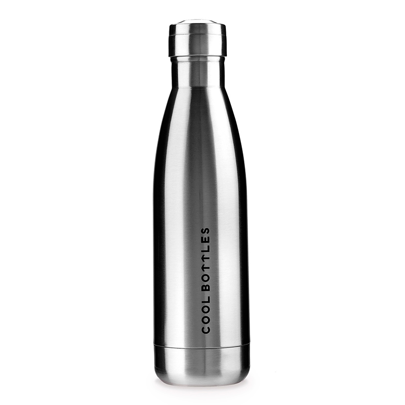 Botella de acero inoxidable Metallic Silver