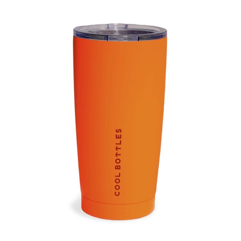 Vaso de acero inoxidable Vivid Orange ideal para mantener tus bebidas frías o calientes. Cool Bottles™ marca la diferencia y es la solución perfecta para hidratarte.