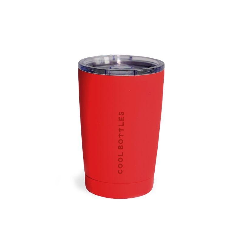 Vaso de acero inoxidable Vivid Red ideal para mantener tus bebidas frías o calientes. Cool Bottles™ marca la diferencia y es la solución perfecta para hidratarte.