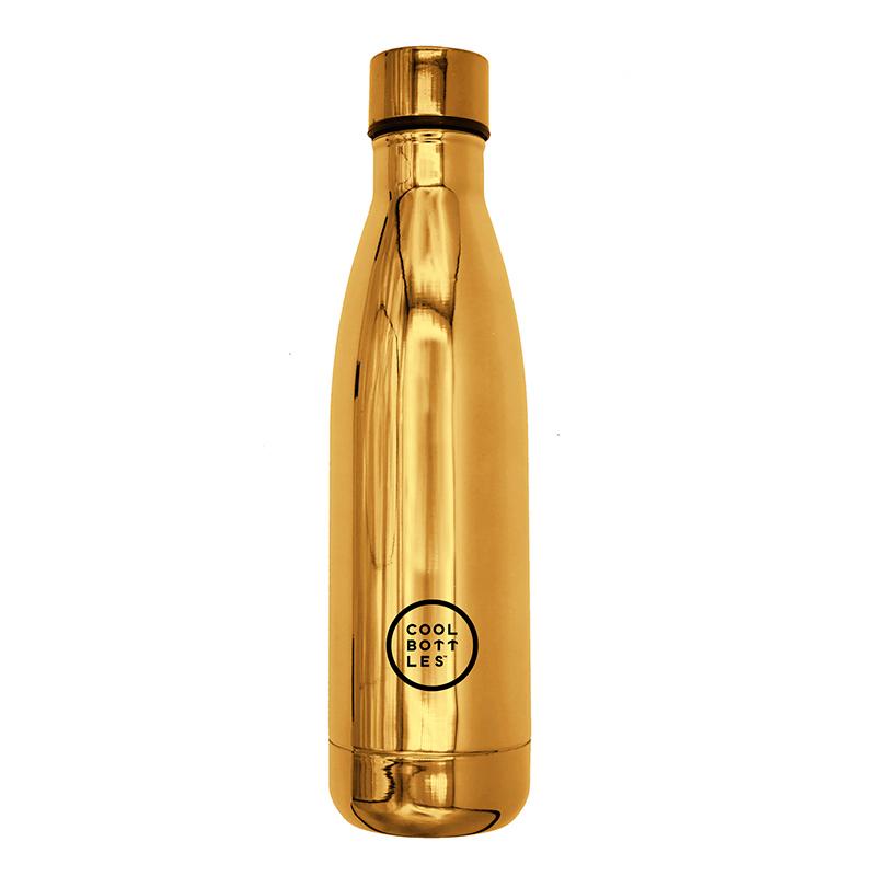 Nueva colección de botellas de acero inoxidable con acabado en brillo/chrome gold. Cool Bottles